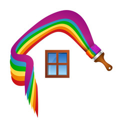 Painting a house symbol vector