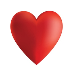 red heart isolated on white vector image