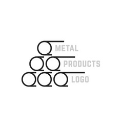 simple metal products logo vector image