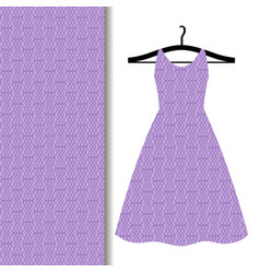 women dress fabric with purple pattern vector image vector image