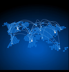 World connections concept vector image