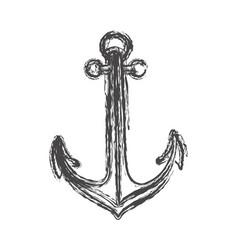 blurred sketch contour anchor icon design vector image vector image