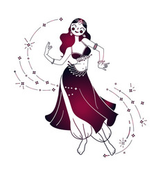 dancing woman icon vector image