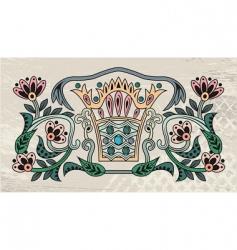 elegant crown vector image