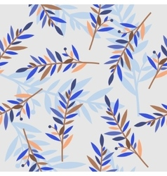 floral seamless pattern with branches for textile vector image