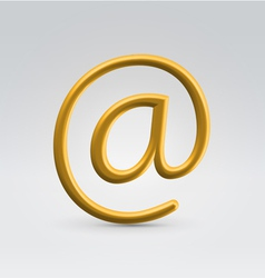 Golden email over light background vector image vector image
