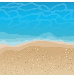 Seaside background vector image