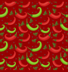 chili peppers seamless pattern pepper red and vector image vector image