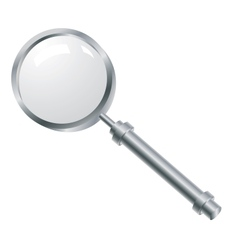 Magnifying glass with a metallic pen vector image