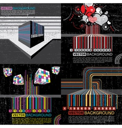 set of barcode vector image vector image