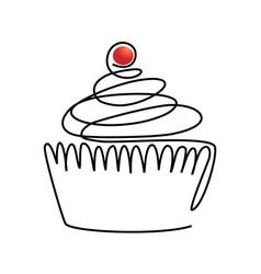 sweet line cake vector image