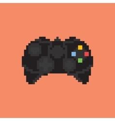 Vintage gamepad Pixel art style joystick vector image vector image