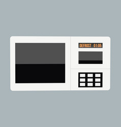 Abstract creative funny cartoon microwave set vector