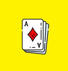 ace diamonds card icon vector image