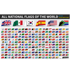 all official national flags of the world sticky vector image