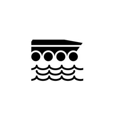 Amphibious car icon solid vehicle vector