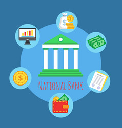 banking icon premium quality vector image