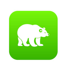 Bear icon digital green vector