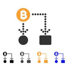 bitcoin cashflow icon vector image