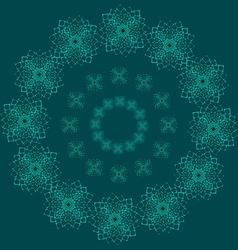 Blue lace vector