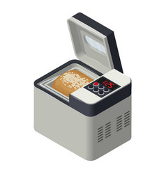 bread maker icon isometric style vector image