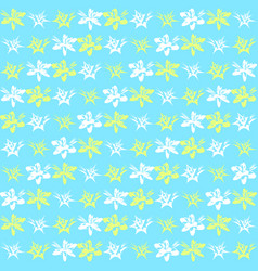Bright exotic flower pattern vector