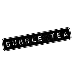Bubble Tea rubber stamp vector image