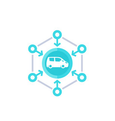 Carsharing icon for web vector