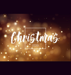christmas background 2019 with golden magic bokeh vector image