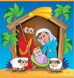Christmas nativity scene 3 vector