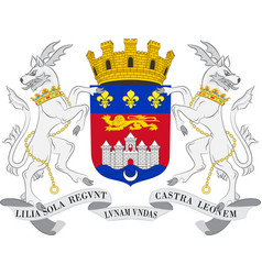 Coat of arms of bordeaux in nouvelle-aquitaine is vector