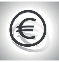 Curved euro sign icon vector image