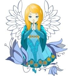 Cute Praing Angel cartoon vector image