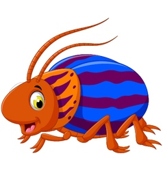 Cute saperda beetle cartoon posing vector