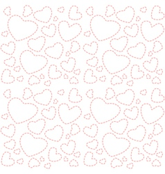 Cute white seamless texture with pink hearts vector
