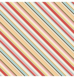 Diagonal striped seamless pattern in retro colors vector