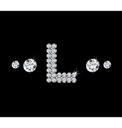 Diamond alphabetic letter L vector image