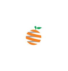 digital orange logo icon vector image
