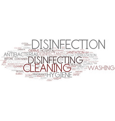 Disinfecting word cloud concept vector