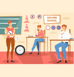Driving school lesson vector