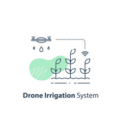 Drone irrigation management crop monitoring vector