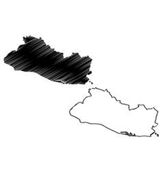 el salvador map vector image