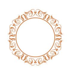 elegant frame heraldry ornate decoration element vector image