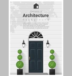 Elements architecture front door background 16 vector