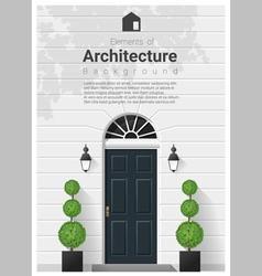 Elements of architecture front door background 16 vector image