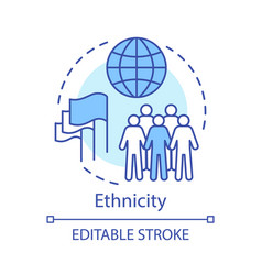 Ethnicity concept icon society community idea vector