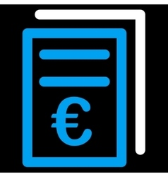 Euro Invoices Icon vector image