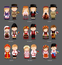 european people in national dress vector image