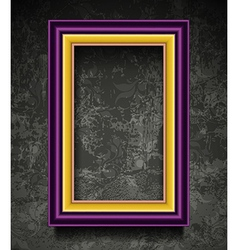 Fachion picture frame on grunge wall vector