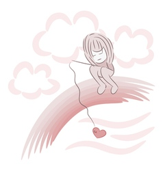 fishing for heart vector image